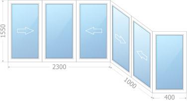 Холодное остекление балкона типа Каблук