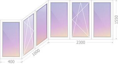 Теплое остекление балкона типа Каблук